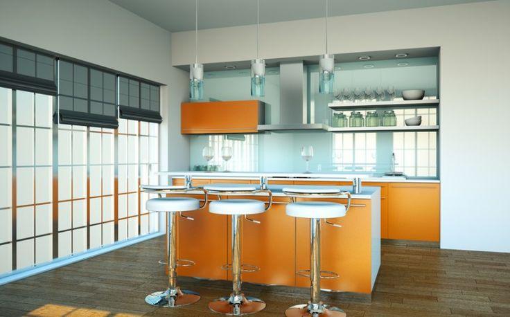 Kuchnia w kolorze pomarańczowym | KrainaDesignu.pl