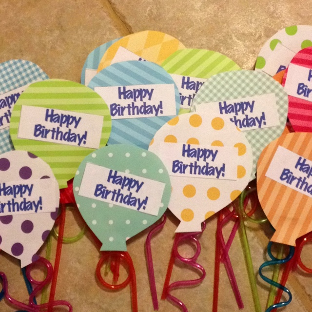 My birthday straws for my classroom this year---thanks Pinterest!