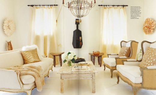 GOLD AND CREAMDecor, Boho Chic, White Living, Interiors, Livingroom, Living Room, Boho Luxe, Sitting Room, English Home