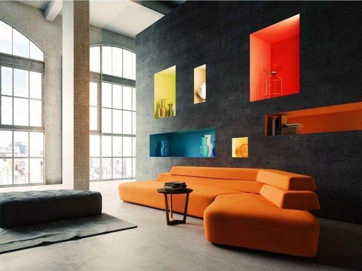 niche murale id es et conseils d 39 am nagement et de d coration chambre feature wall living. Black Bedroom Furniture Sets. Home Design Ideas