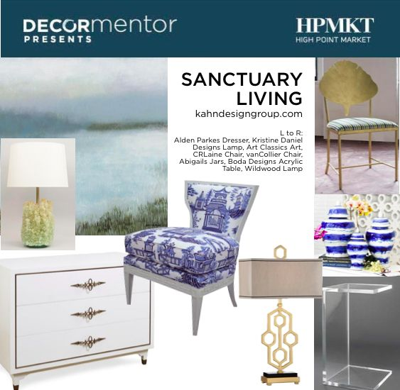 Interior Designer Lisa Kahn of Naples Florida transforms houses into sanctuaries [ imagine the feeling of spa living 24-7! ] for her discerning clients.  Crazy talented and la hoot too! See here the new home furnishings she curated for High Point Market | The World's Home for Home Furnishings showcasing what will be new this Fall. ‪#‎HPmkt‬ #Sanctuary #SanctuaryLiving