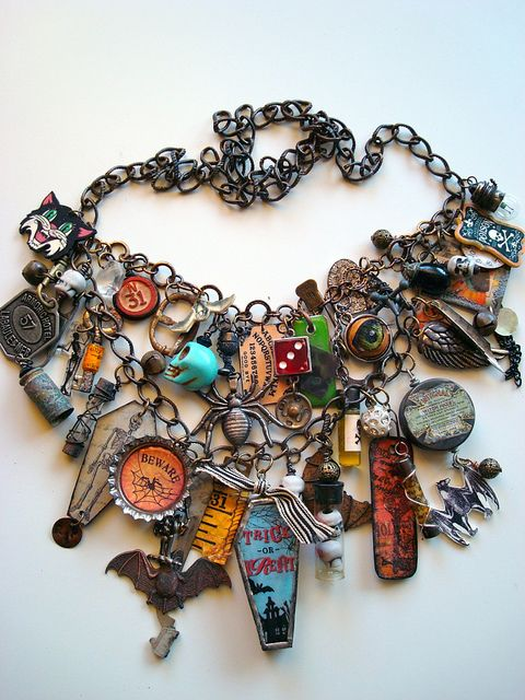 Halloween necklace by ltl blonde, via Flickr
