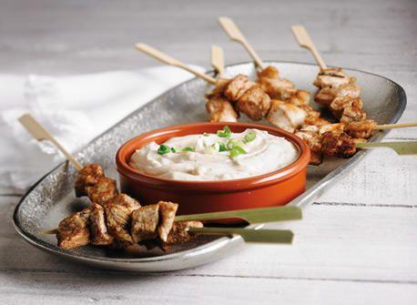 Chicken Satay with Cream Cheese Peanut Sauce #CDNcheese #simplepleasures