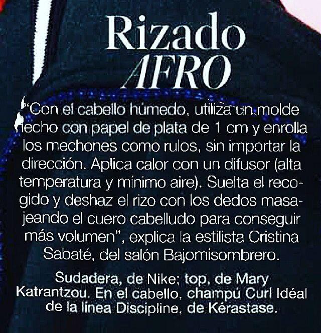 La revista #glamour menciona a Bajomisombrero. #revistaglamour #rizo #rizos #rizosperfectos #rizosdeoro #rizosalpoder #rinxol #rinxolsdor #rinxols #bcn #bcnmoltmes #barcelona