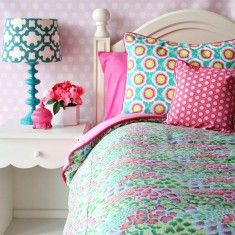 Pink Paradise Duvet and Sham Set-Available in Two Different Sizes Fun for teen and tween girls