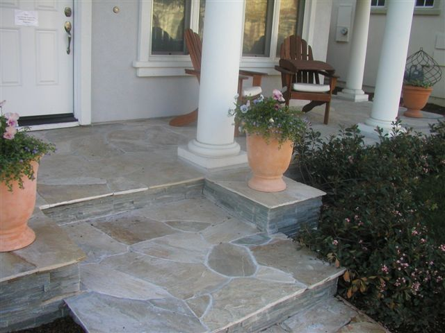 front stone porch