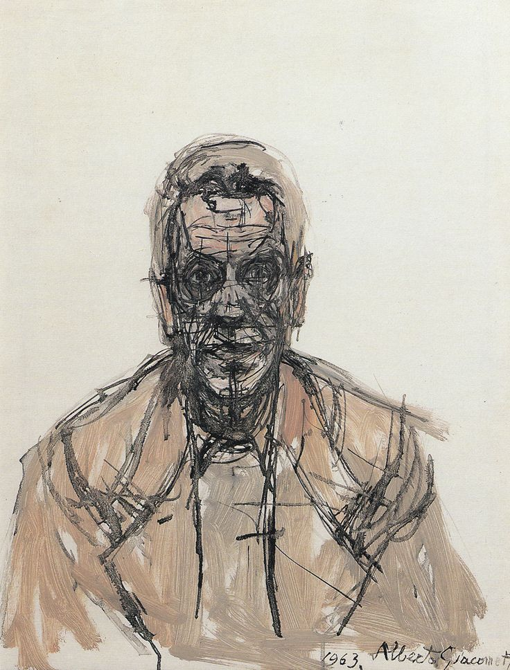 Alberto Giacometti (Swiss, 1901-1966), Portrait of Giorgio Soavi, 1963. Oil on canvas 50 x 40 cm.via mondialchaos