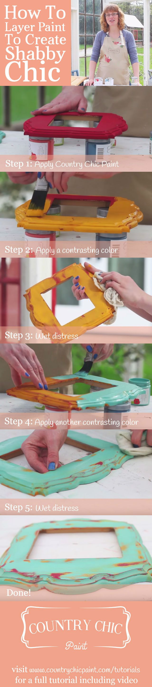 How to layer and distress furniture paint for a shabby chic finish | furniture painting tutorial #countrychicpaint - www.countrychicpaint.com/tutorials