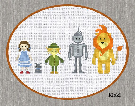 Cross Stitch Pattern Wizard of Oz Instant Download by TinyNeedle
