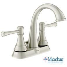 Ashville 2 Handle Bathroom Faucet with Microban - Spot Resist Brushed Nickel Finish