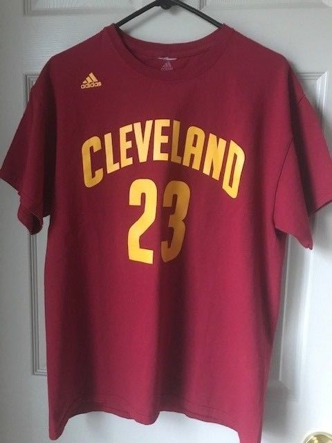 df24c78622b7 Adidas Cleveland Cavaliers Cavs Lebron James  23 NBA Basketball T-shirt  Size L  fashion  clothing  shoes  accessories  mensclothing  shirts (ebay  link)