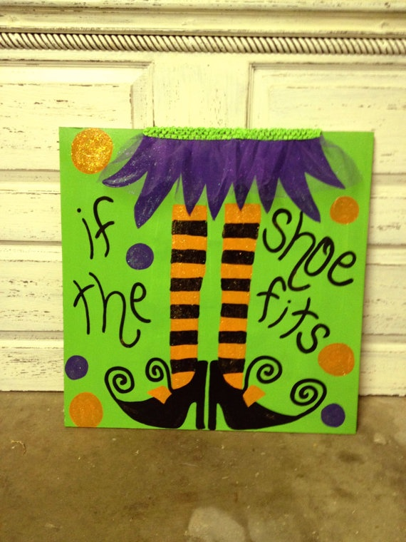 Halloween Painting by LogynnKyles on Etsy, $55.00