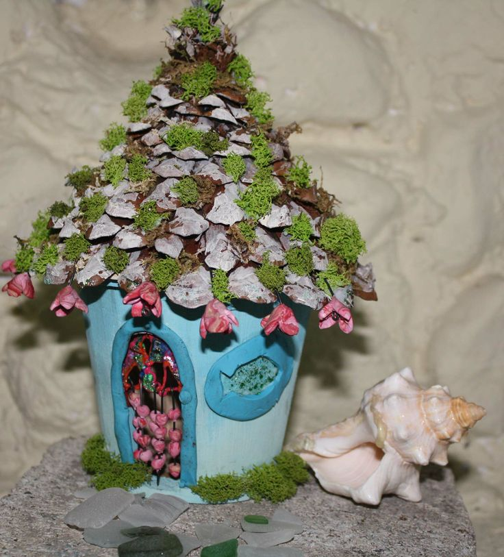 How A Little Fairy House Experiment Took On A Life Of It S Own, Crafts,  Gardening, Hippy Beach Love Hut Fairy House Meta Morphasizes From Bird House
