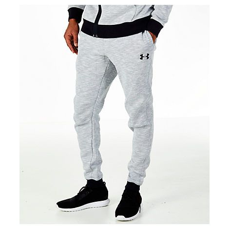 UNDER ARMOUR MEN'S BASELINE TAPERED BASKETBALL PANTS, GREY. #underarmour #cloth #