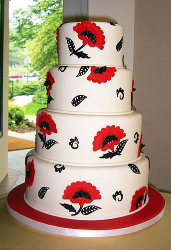 wed24_LG.jpg (343×500): Cakes Pop, Red Poppies, Amazing Cakes, Cakes Decor Ideas Recipes Etc, Red Flowers, Wedding Cakes, Beautiful Cakes, Design Cakes, Cakes Amazing