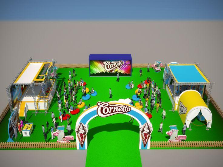 Cornetto events fot university summer festivals.