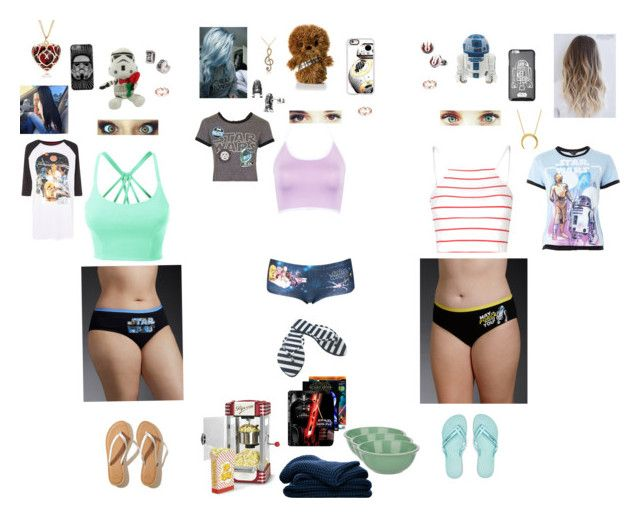 """""""Girls Movie Night Star Wars"""" by ambereyes97 ❤ liked on Polyvore featuring Torrid, Topshop, WithChic, Glamorous, LE3NO, Casetify, Forever 21, Nostalgia Electrics, Hollister Co. and IPANEMA"""