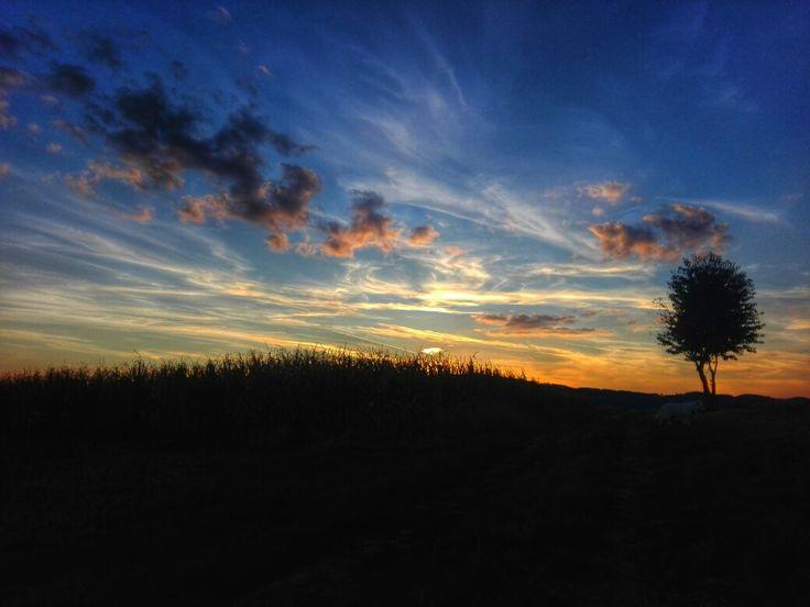 First autumn sunset.  #autumn #sunset