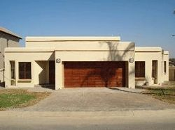 Single storey flat roof house plans in south africa for Straight roof line house plans