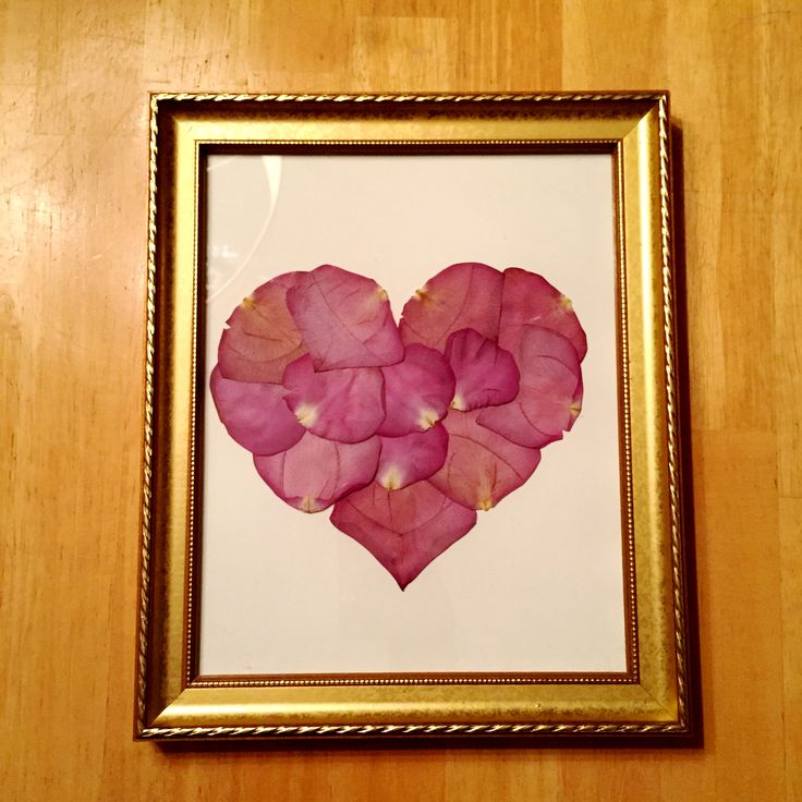 This heart is made out of dried flowers from a loved one's funeral. This is a special way to not let all of the flowers from that day simply die and get thrown away.
