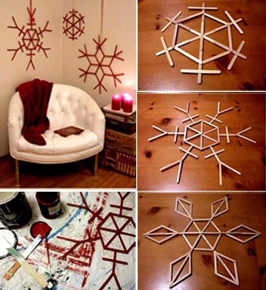 Velmi jednoduchá vánoční dekorace :)
