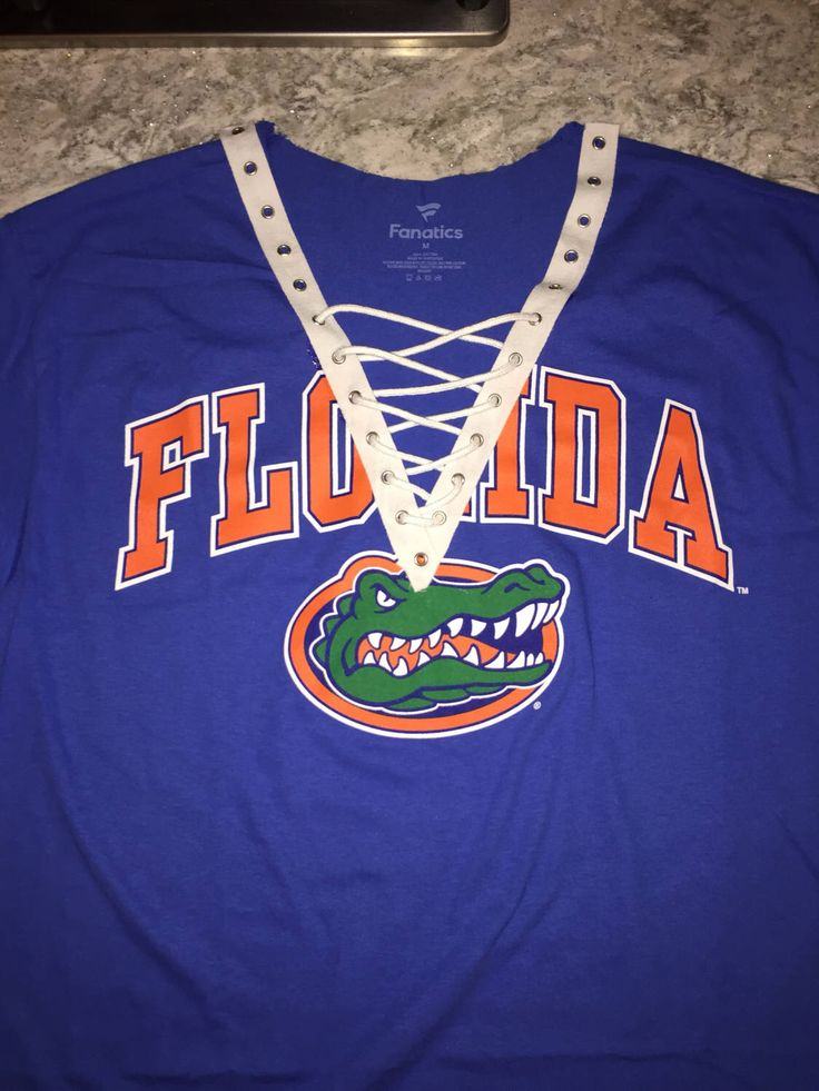 A personal favorite from my Etsy shop https://www.etsy.com/listing/507701412/univeristy-of-florida-lace-up-tee