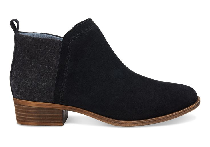 With a short heel and a blend of suede and wool, the Deia Bootie is bound to be a staple in your wardrobe. An interior zipper and a pull tab at the heel make them easy to slip on and off.