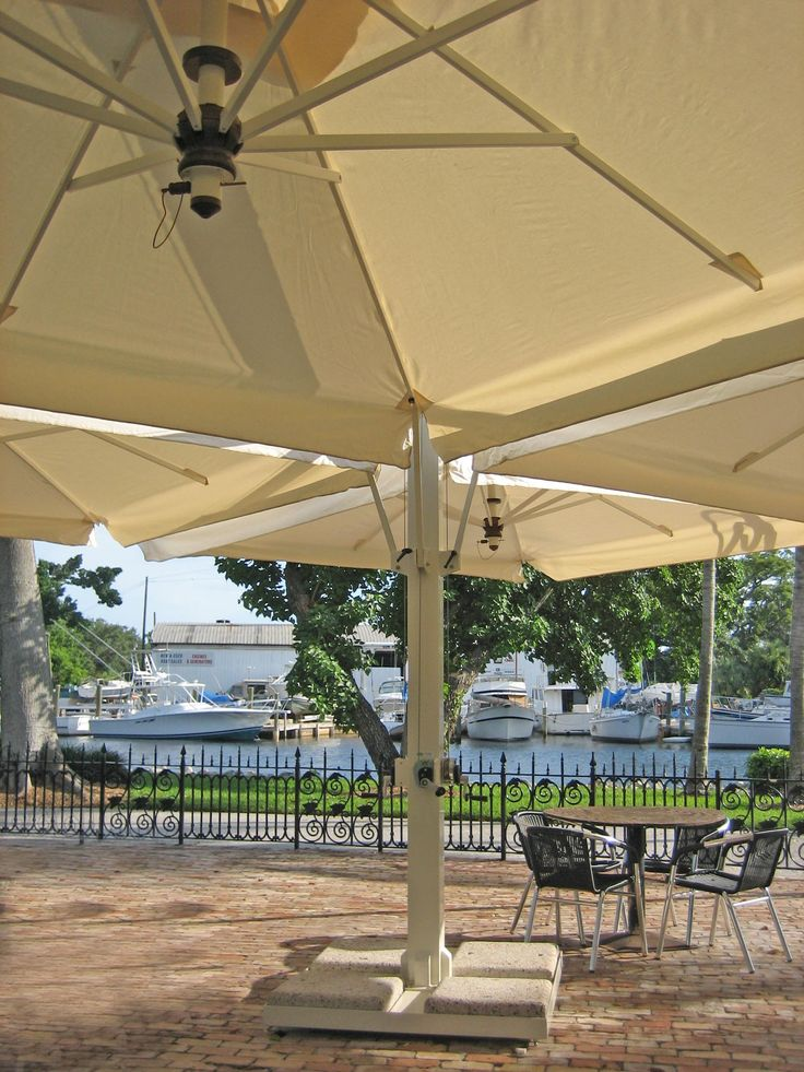 the Poker umbrella is the largest of them all! This multi canopy patio umbrella features & Best 25+ Large patio umbrellas ideas on Pinterest | Large outdoor ...