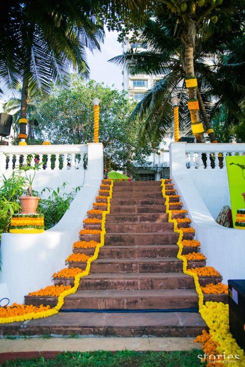 Flower rangoli decor at Mehendi Brij Holi Shonan & Adesh | thedelhibride Indian wedding blog