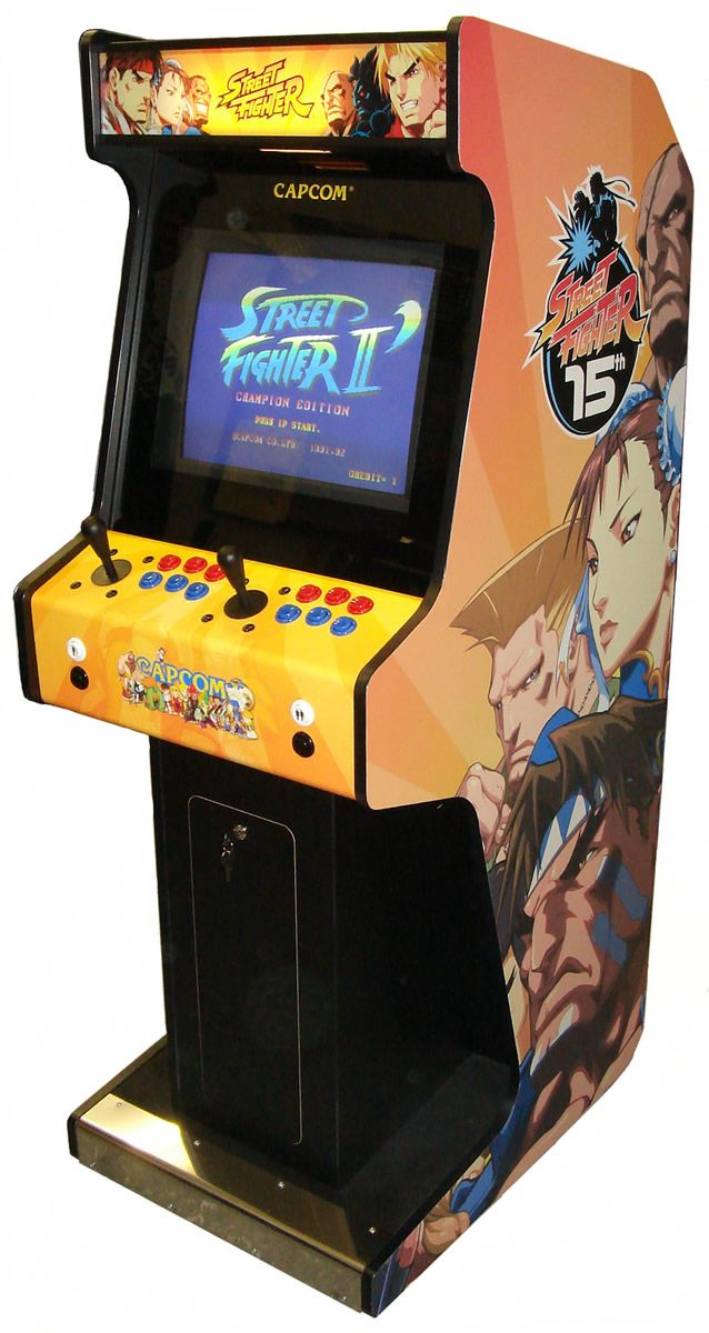 Man Cave Home Arcade.. You have to have a arcade games system in the Man cave.. Street Fighter II Arcade Machine