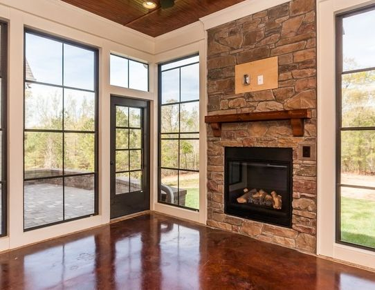 Custom home with geothermal heating and cooling system in Clayton, NC.
