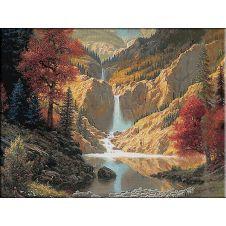 1851.Sunetul cascadei 33culori...600-450cm....205ron