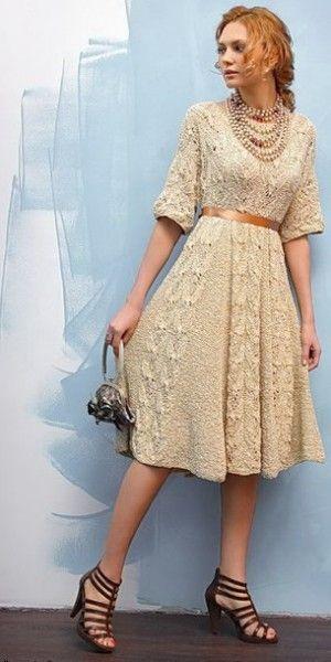 Платье в винтажном стиле (вязание спицами) | Платья и туники спицами | Вязание спицами | Уроки, мастер-класс | Ковровая вышивка и креативное...