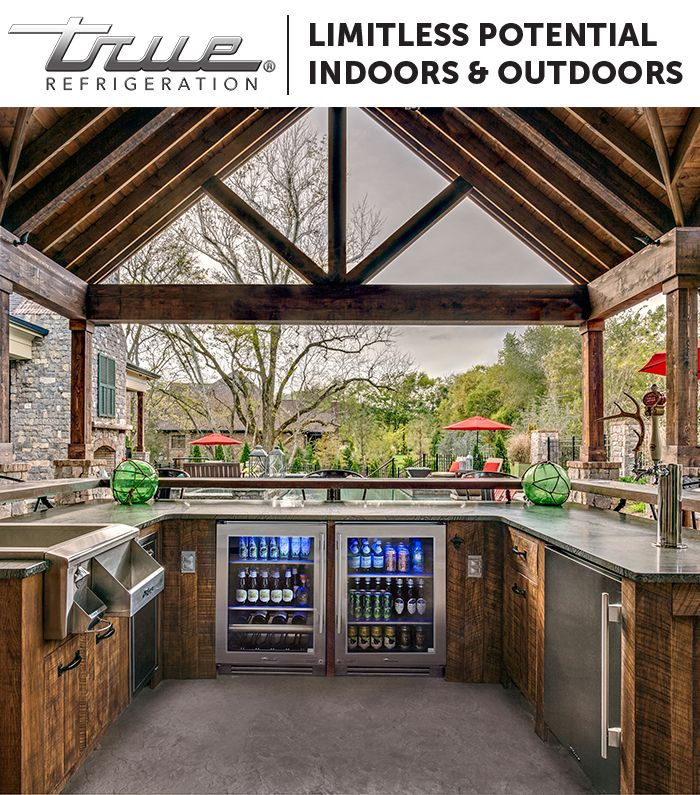 Create the ultimate outdoor space perfect for you with TRUE Refrigeration units. All are UL-rated for indoor and outdoor use, so there is limitless potential when designing your outdoor haven.