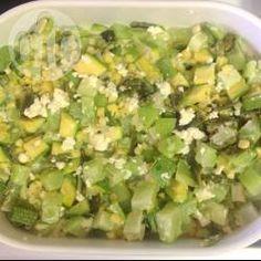 Chayotes al horno con elote, chile poblano y jamón @ allrecipes.com.mx