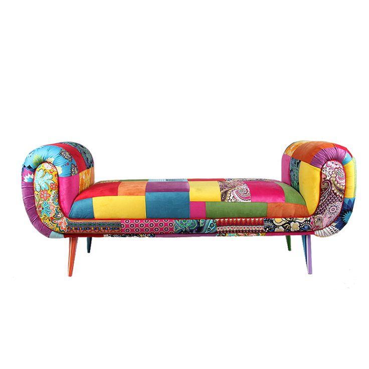 Неоклассическая Royal цвет дивана заклинание ткань диван-кровать конце стула высокой ноги барабанный образный дизайн студии фотографии реквизита - Taobao