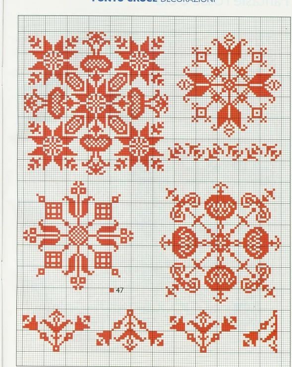 Gallery.ru / Фото #4 - Rakam Saper Fare Natale tante idee-Colore su Colore - Orlanda #Biscornu Inspiration #Cross-stitch