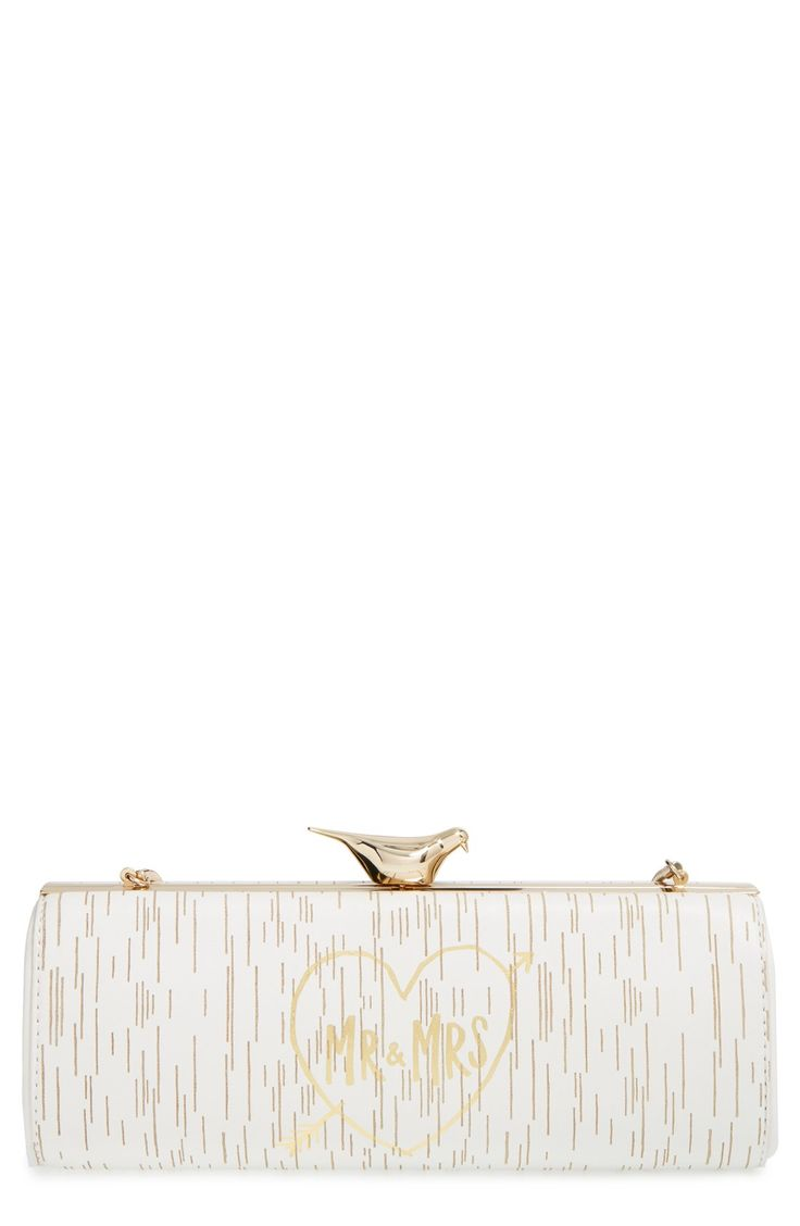Nothing says 'Just Married' like thiscute Kate Spadeclutch.