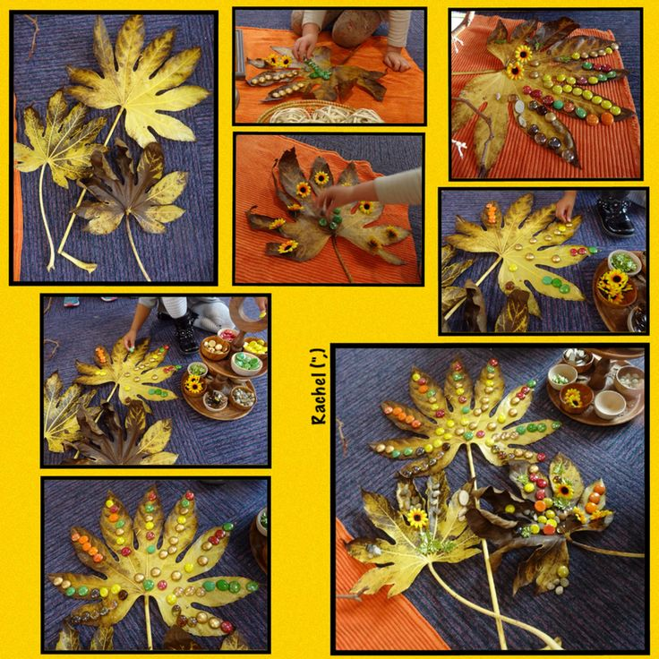 """Decorating leaves from Rachel ("""",)"""