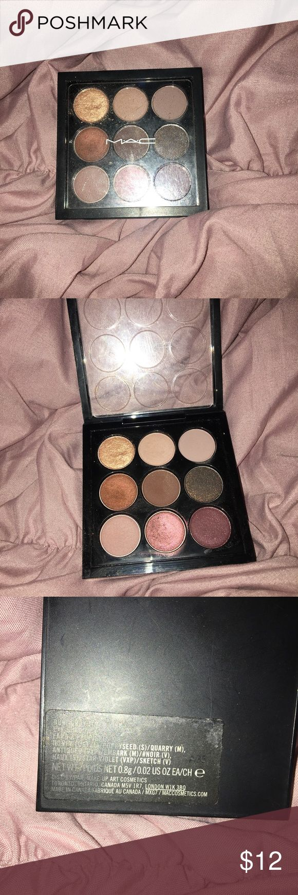 MAC Burgundy x9 Eyeshadow Palette Authentic! Used a few times! MAC Cosmetics Makeup Eyeshadow