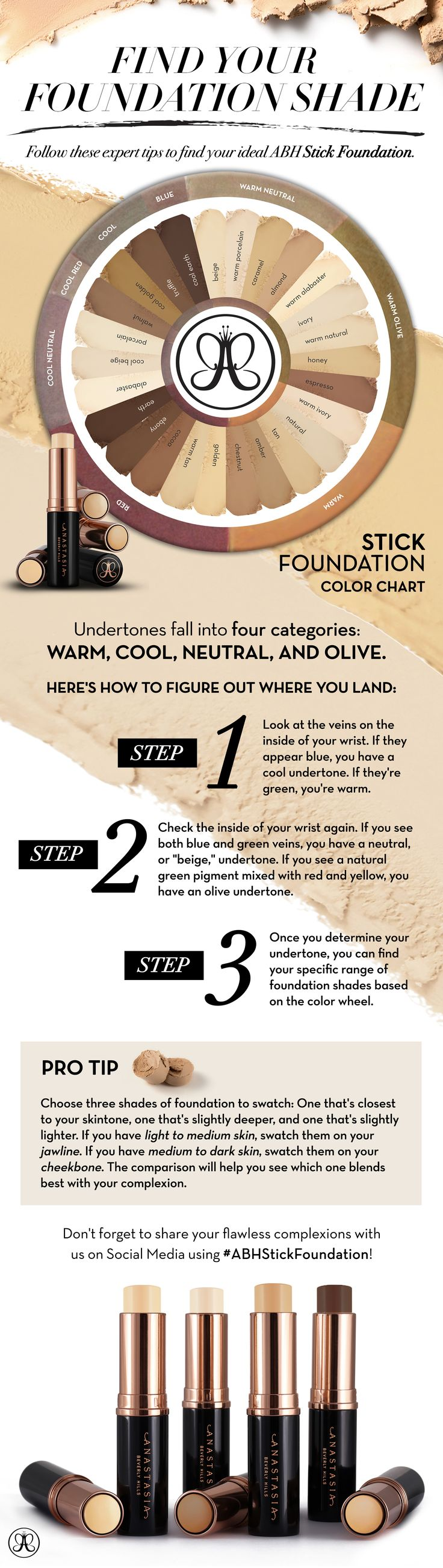 Find Your Shade | ABH Foundation Stick