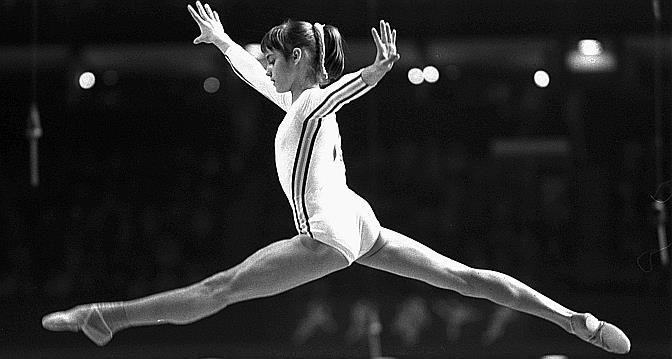 Nadia Comaneci au JO de Montréal en 1976. (Keystone)