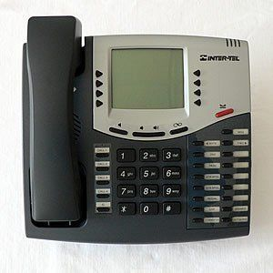 Inter-tel 6 Line IP Telephone 550.8660. 6x16 character display. Softkeys for call handling and message management. Feature buttons for commonly-used functions. Do-Not-Disturb, Transfer, Forward, Conference,Page. Message waiting lamp, full duplex speakerphone, without Power supply and cable.