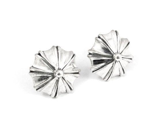 Sterling silver shell inspired earrings by NatashaGjewellery, $100.00