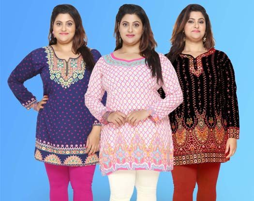 Plus Size Kurtis - Manufacturer | Wholesaler | Exporter of Indian Kurtis