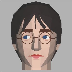 ハリーポッターの展開図 似顔絵 無料 ダウンロード ペーパークラフトファン