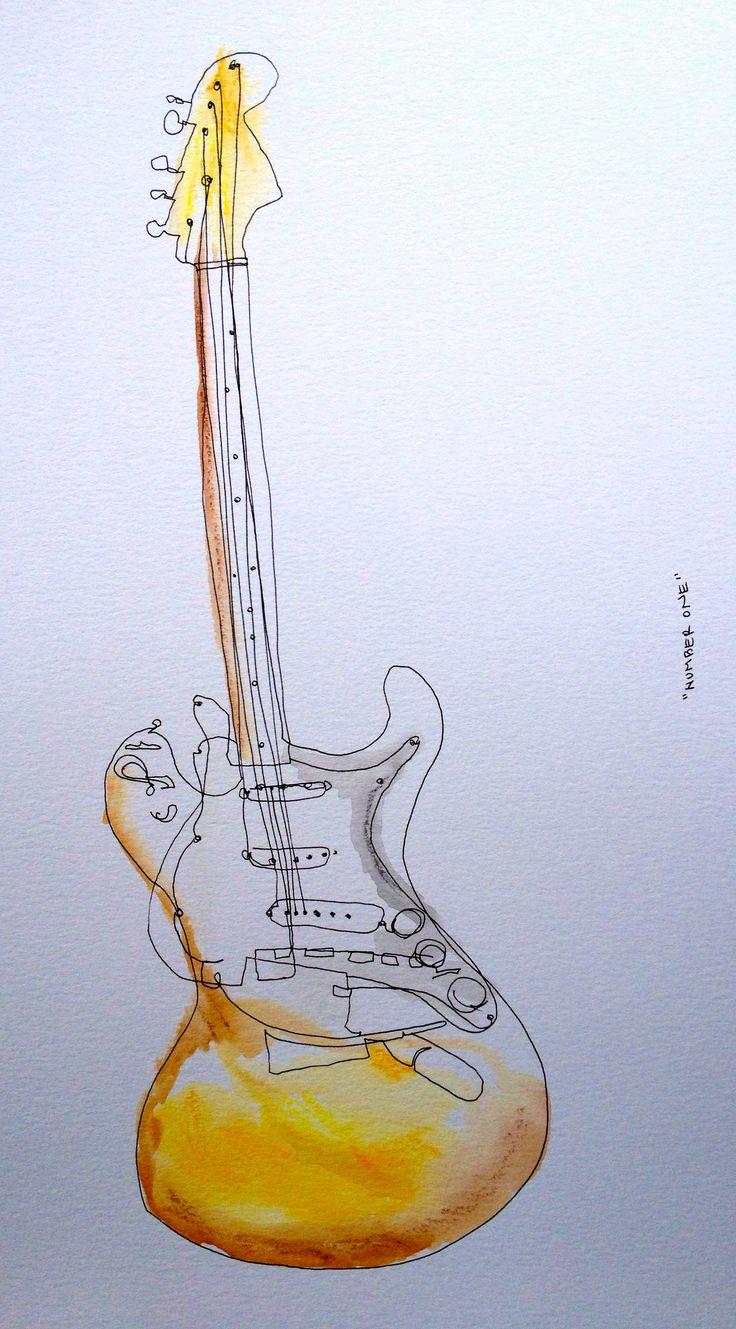 Contour Line Drawing Guitar : Best contour drawings ideas on pinterest line