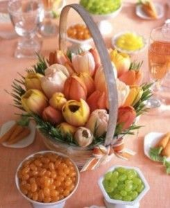 Beautiful flower basket. Great Easter centerpiece.