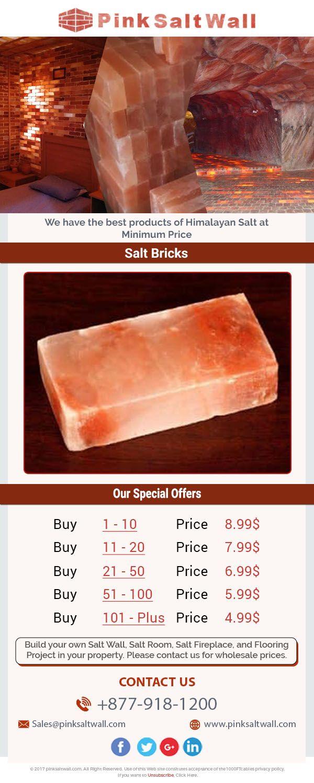 Deals And Bundles Salt Brick Salt Room Salted Brick Himalayan Salt Block