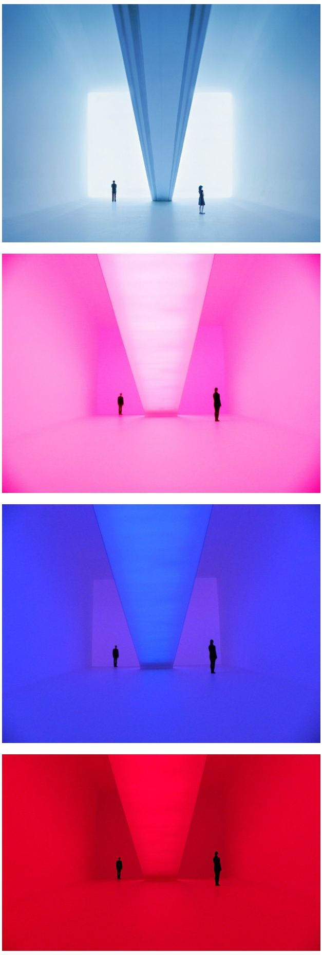 "James Turrell Bridget's Bardo  ""Ganzfeld"": a German word to describe the phenomenon of the total loss of depth perception as in the experience of a white-out  http://jamesturrell.com/artwork/bridgets-bardo/"